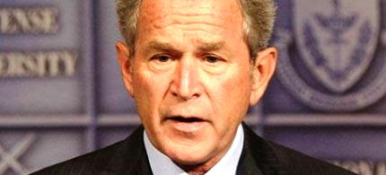 Former president George W. Bush. (photo: Getty Images)
