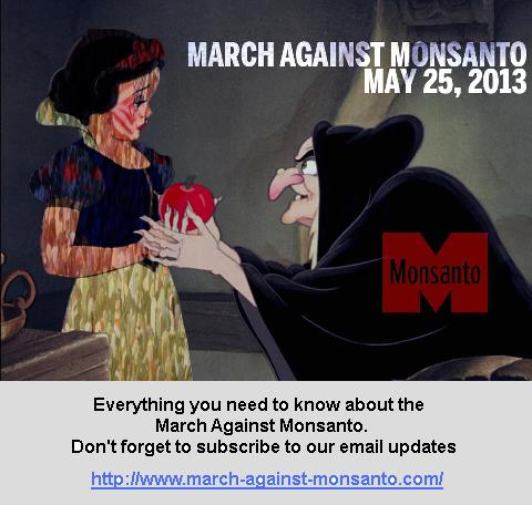 March Against Monsanto snow white
