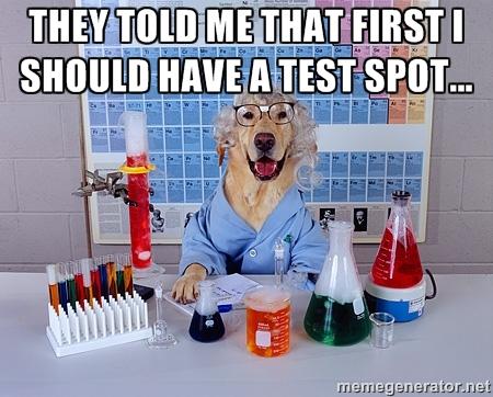 test spot
